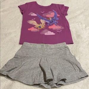 Disney & Okie Dokie Matching Sets - Toddler Skort and Tee.